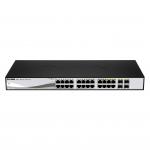 D-Link DGS-1210-24P L2 Gigabit Ethernet (10/100/1000) Nero switch di rete