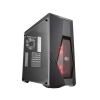 Case atx masterbox k500l cooler master no psu 2 vent red trasp.