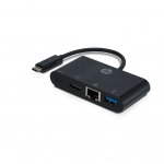 Adattatore video con connettore tipo c - hdmi/usb tipo c/usb / lan