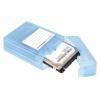 Custodia per 2 hard disk 2,5 sata in plastica trasparente link