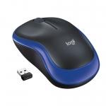 Mouse wireless logitech m185 usb blue