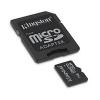 Micro sd 16gb con adattatore sd classe 4 kingston sdc4/16gb