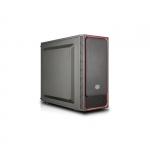 "Case masterbox e500l, red, steel side panel, usb3x2, audioi&o, 1x 5,25"", 2x 2.5"", 2x 3.5"", 120mm r. fan, radiator sup., no psu"