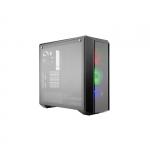 "Case masterbox 5 pro rgb, 2x usb3, 2x 2.5""bay + 2x 3.5"", 120mm x3 rgb fr.fans+120mm r.fan, radiator supp., no psu, black"