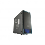 Case atx masterbox e500l cooler master blu usb3 lat. trasp.