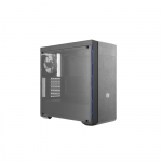 Case atx masterbox mb600l blue cooler master no psu slot odd