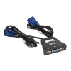 Kvm switch 2 pc usb/vga 1 mouse/tast. audio con cavi automatico