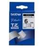 Brother tapes tze211 6mm white/black