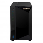 """Nas asustor as-4002t 2xsata 3,5"""" marvel 1,6ghz; 2gb ddr4;1x10gbps; 2x1gbps (as4002t)"""
