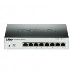 D-Link DGS-1100-08P L2 Gigabit Ethernet (10/100/1000) Supporto Power over Ethernet (PoE) Nero switch di rete