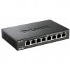 Hub switch 8 porte 10/100 d-link des-108 case metallico