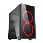 Case m-atx itek doucir gaming 2 rgb fan con telec. glass black