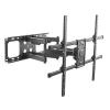 """Staffa a muro per monitor tv 60-100"""" fino a 75 kg estensione fino a 635 mm con movimento orizzontale e verticale"""