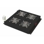 Kit 4 ventole con termostato nero per armadi linea prof. digitus