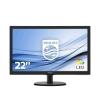 Monitor philips led 21.5' 16:9 nero  200cd/m vga 223v5lsb2