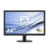 Monitor philips led 23,6' bk 250cd/m vga dvi-d hdmi mm 1ms