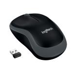 Mouse wireless logitech m185 usb black/grey