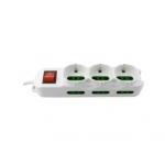 Multipresa 9 prese (3 shuko 6 ita) interr. mach power mp-sl3077