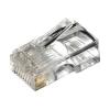 Plug di rete rj45 utp cat.5e senza guide per cavo flessibile
