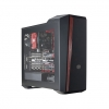 Case atx masterbox 5t cooler master pannello trasp. no psu red