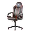 Itek gaming chair taurus p4 -  pelle sintetica pu, nero rosso