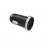 Caricatore da auto usb silicon power fast 2.1a 2p usb black