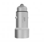 Caricatore da auto usb silicon power ultra 3.6a 2p usb silver