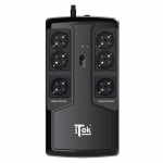 Ups compower 800 - 800va/480w, stand by, led, 6xschuko (3x backup e 3x protezione)