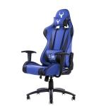 Itek gaming chair taurus p2 v2 -  pelle sintetica pu, doppio cuscino, nero blu
