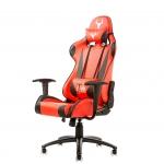 Itek gaming chair taurus p2 v2 -  pelle sintetica pu, doppio cuscino, nero rosso