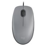 Mouse usb logitech m110 silent gray