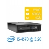 Pc ric. hp elitedesk 800 g1 sff i5-4570 4gb 500gb dvd w7/10pro