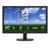 Monitor philips led 23,6' bk 250cd/m vga dvi-d hdmi 1ms