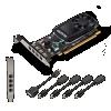Vga pny nvidia quadro p620 2gb 4 uscite mini dp con adatt.
