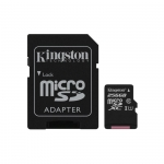 Micro sd 256gb con adatt. c10 uhs-i kingston canvas sdcs/256gb