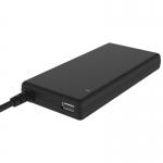 Alimentatore universale slim per notebook 90w con 12 connettori, porta usb 5v1a, 100/240vac, 9.5/24vdc (gomma soft-touch)