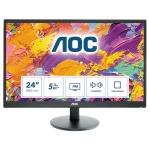 "monitor aoc 23,6"" led e2470swda 1920x1080 mm 5ms 1000:1 dvi vesa black"