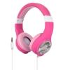 Cuffia per bambini colore rosa con matite, personalizzabile - connettore 3,5mm volume ridotto ipoallergenica
