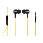 """Auricolari stereo con microfono jack 3,5"""" 1.2mt giallo/nero/silv"""
