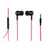 """Auricolari stereo con microfono jack 3,5"""" 1.2mt rosso/nero"""