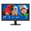 Monitor philips led 23,6' v-line full hd vga dvi hdmi bk