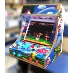 "Cabinet retro gaming arcade monitor lcd 19"" 2 joystick+grafica"