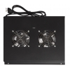 Cassetto ventilato a soffitto 2 ventole x armadi rack 600mm nero