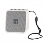 Cassa mini speaker wireless portatile bluetooth cork bianco
