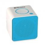 Cassa mini speaker wireless portatile bluetooth bianco/blu