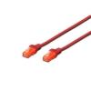 Cavo di rete cat.6e 1mt rosso (dk1617010r)