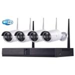 Kit tecno wifi nvr +4 telec. bullet ip 960p 3.6mm tc-1402ipw-kit