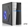 Case micro atx 550w ktx mod. tx-663 black mis. 38x35x17