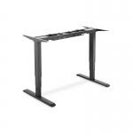 Supporto tavolo alzo elettrico 63-125 cm nero