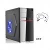 Case tx-662 matx alimentatore 550w + porta usb 3.0 - nero / rosso